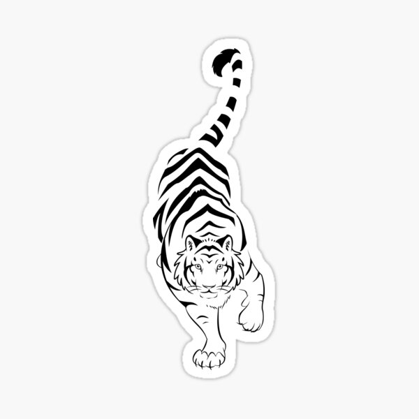 Tiger Tribal Stalking  Sticker
