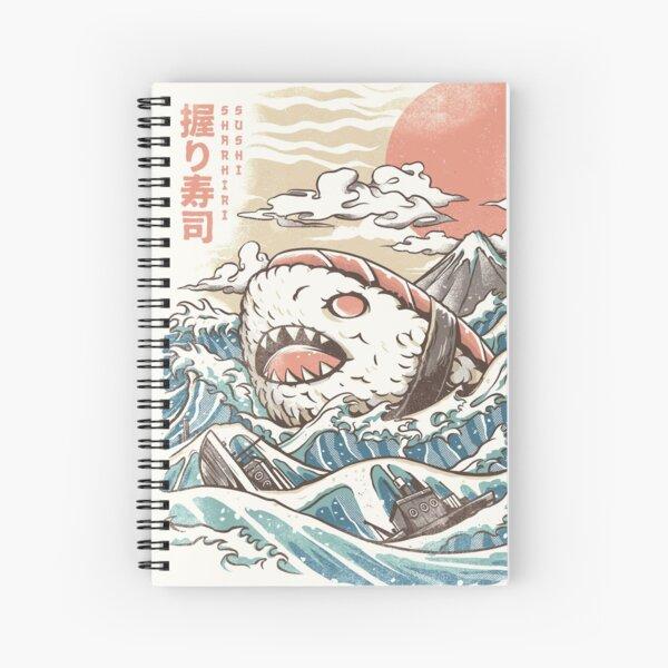Sharkiri Sushi Spiral Notebook