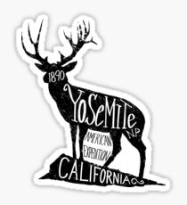 Yosemite Deer Logo Sticker