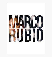Lámina fotográfica Marco Rubio 2016