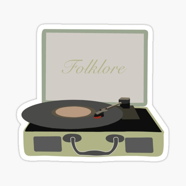 Taylor Swift Folklore Record Player Sticker