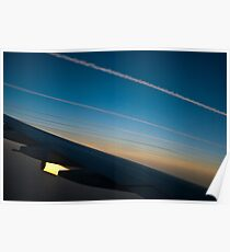 Air traffic lanes Poster