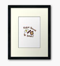 Eggs Bacon & Toast Framed Print