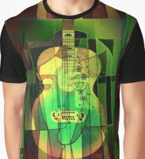 5161 Guitar with Face Graphic T-Shirt
