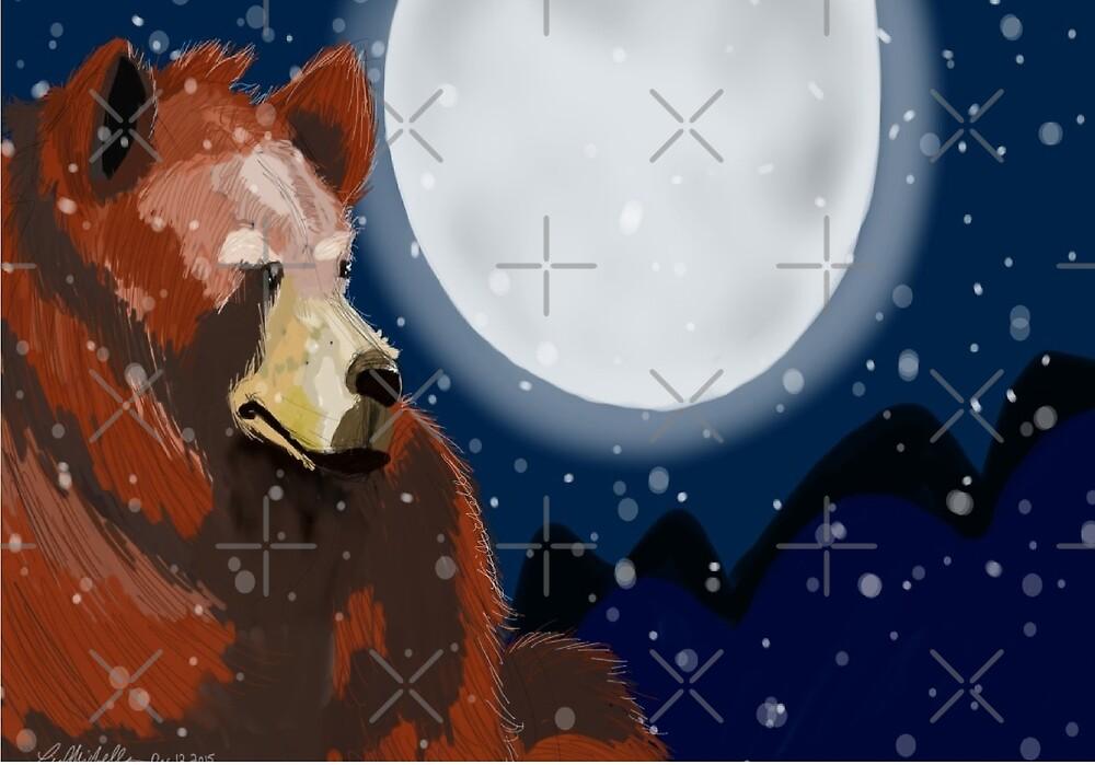 Snow Bear by LisaMichelleArt