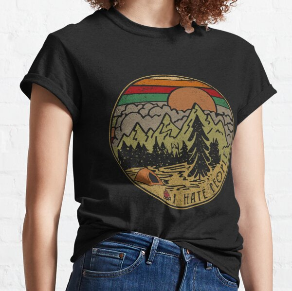 I Hate People Camping Outdoors gift Classic T-Shirt