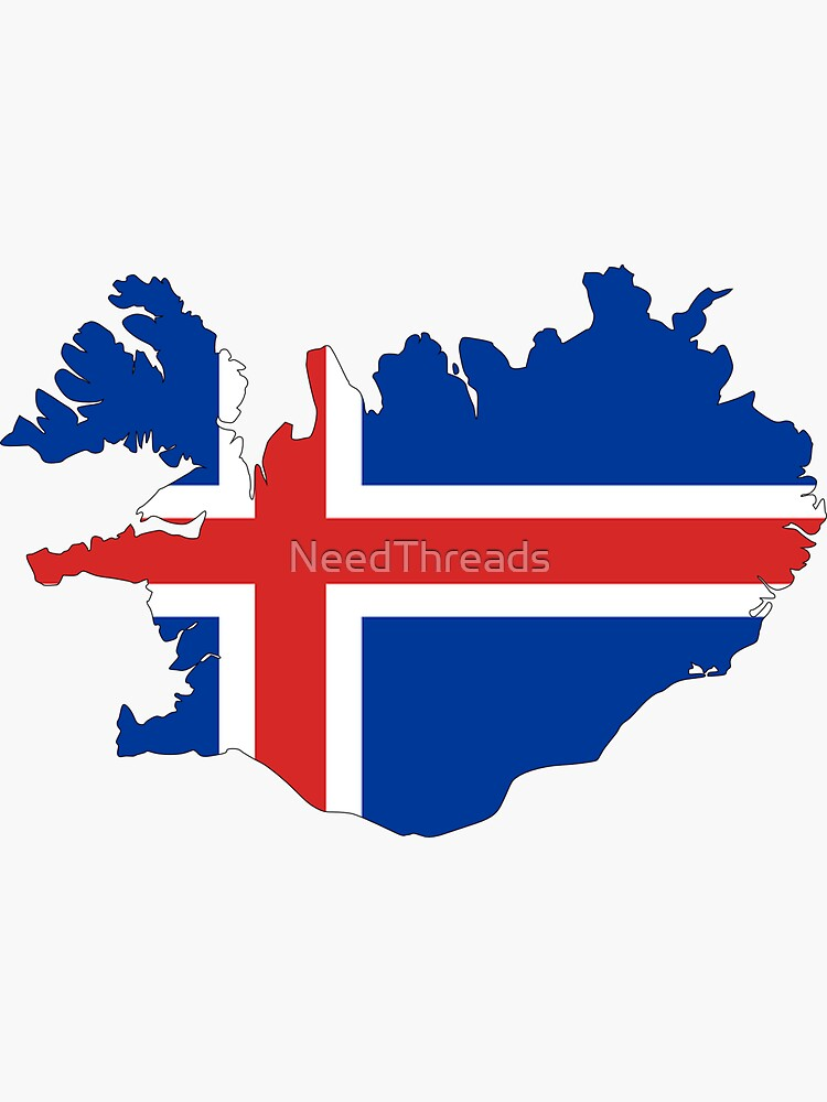 Iceland Flag Map by NeedThreads