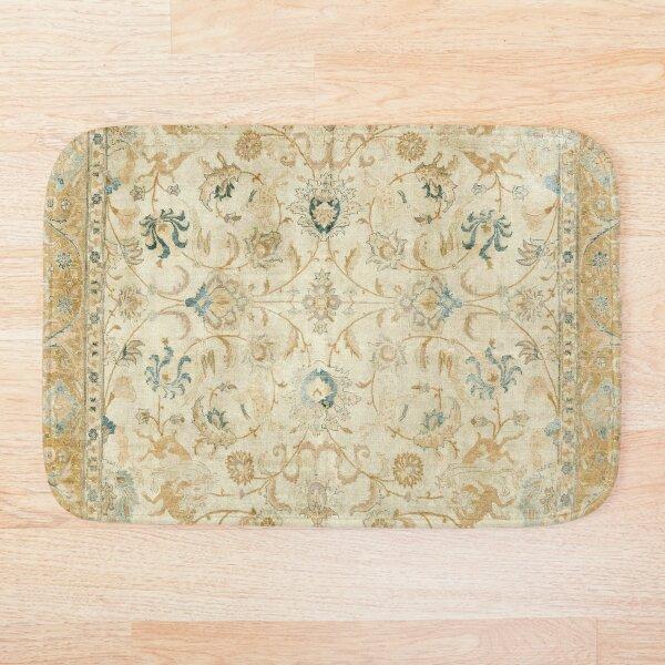 Antique Persian Tabriz  Rug Print Bath Mat