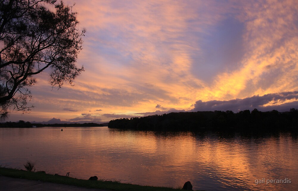 Sunset over Chinderah .. by gail woodbury