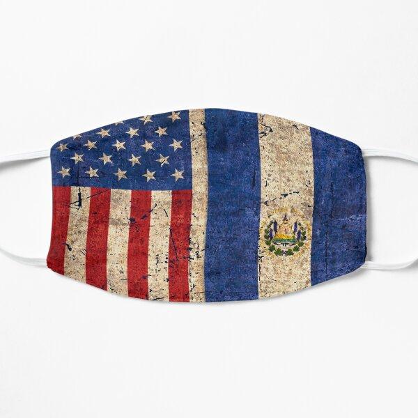Bandera de Estados Unidos y El Salvador, Regalo Patriótico Mascarilla plana