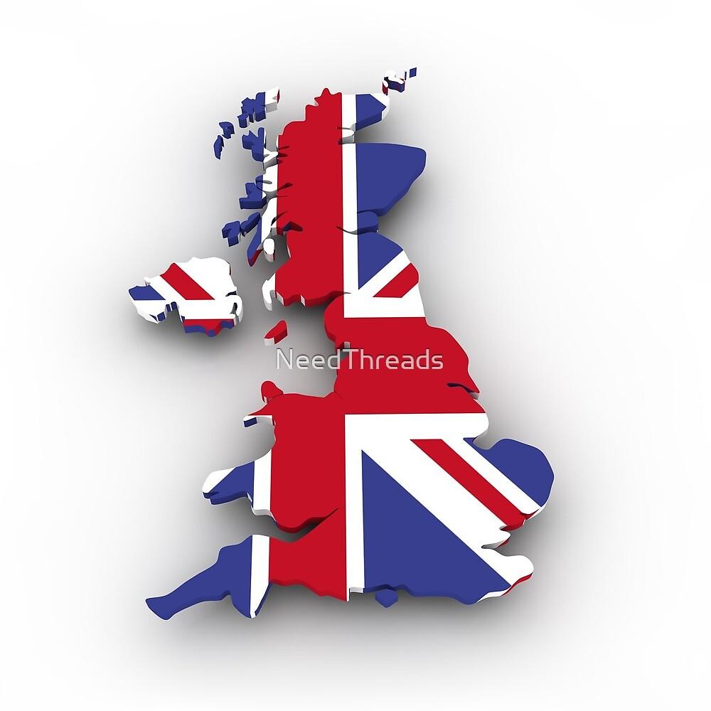 United kingdom Flag Map by NeedThreads