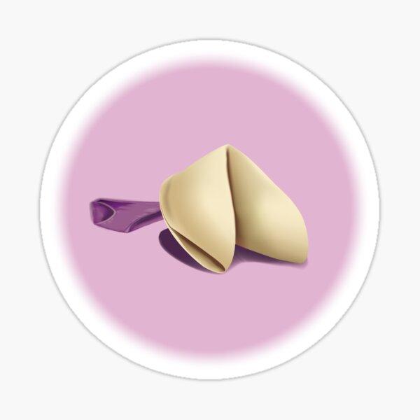 Fortune Cookie After Dark, White Background Sticker