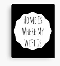 Home Is... Typography Print Canvas Print