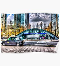 Taxi at Canary Wharf Poster