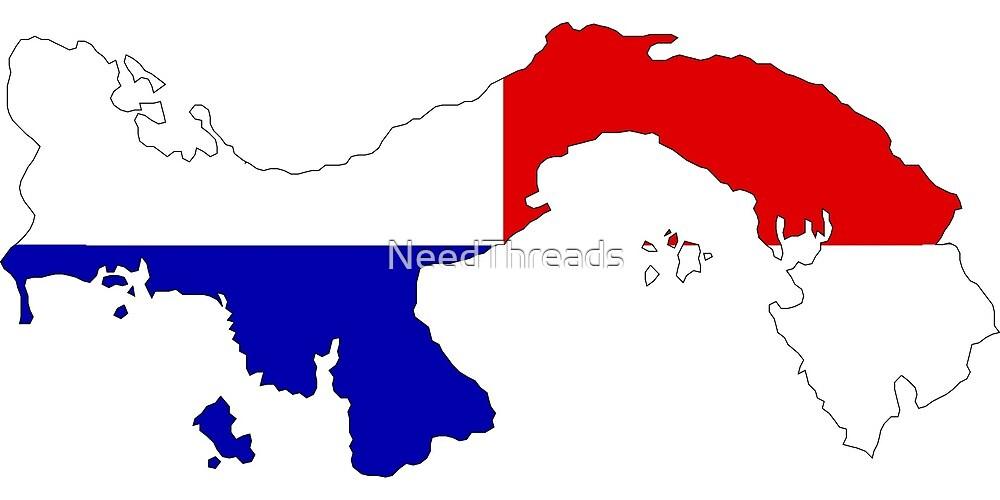 Panama Flag Map by NeedThreads