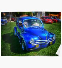 Ancient French Car Renault 4CV Poster