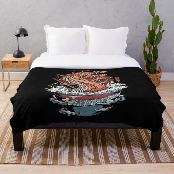 Ramen Dragon Throw Blanket