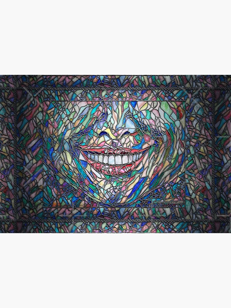 """Cut"" (stained glass tile, watercolor painted) ""Smile"" - Fine Art series by CaraSonrisa"