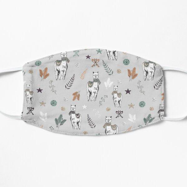Holiday Alpaca Pattern Mask