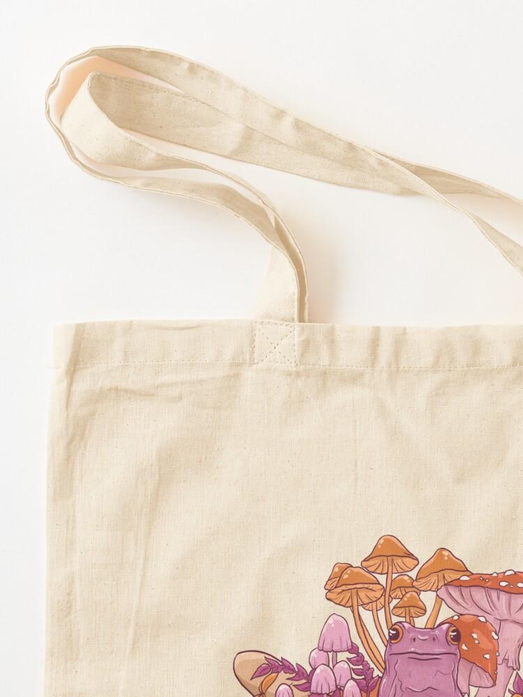 Alternate view of Sapphic Toadstool Frog Handful Tote Bag