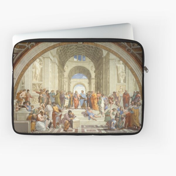 The School of Athens, Plato & Aristotle, Raphael Masterpiece Laptop Sleeve