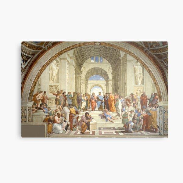 The School of Athens, Plato & Aristotle, Raphael Masterpiece Metal Print