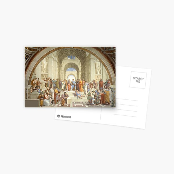The School of Athens, Plato & Aristotle, Raphael Masterpiece Postcard