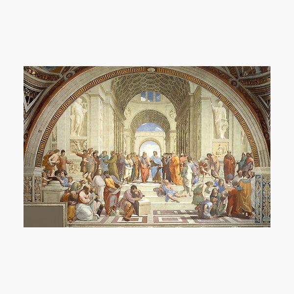 The School of Athens, Plato & Aristotle, Raphael Masterpiece Photographic Print