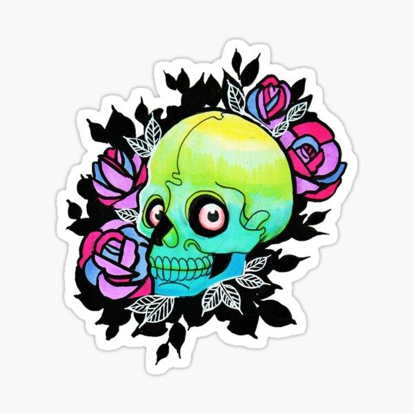 acid skull  Sticker