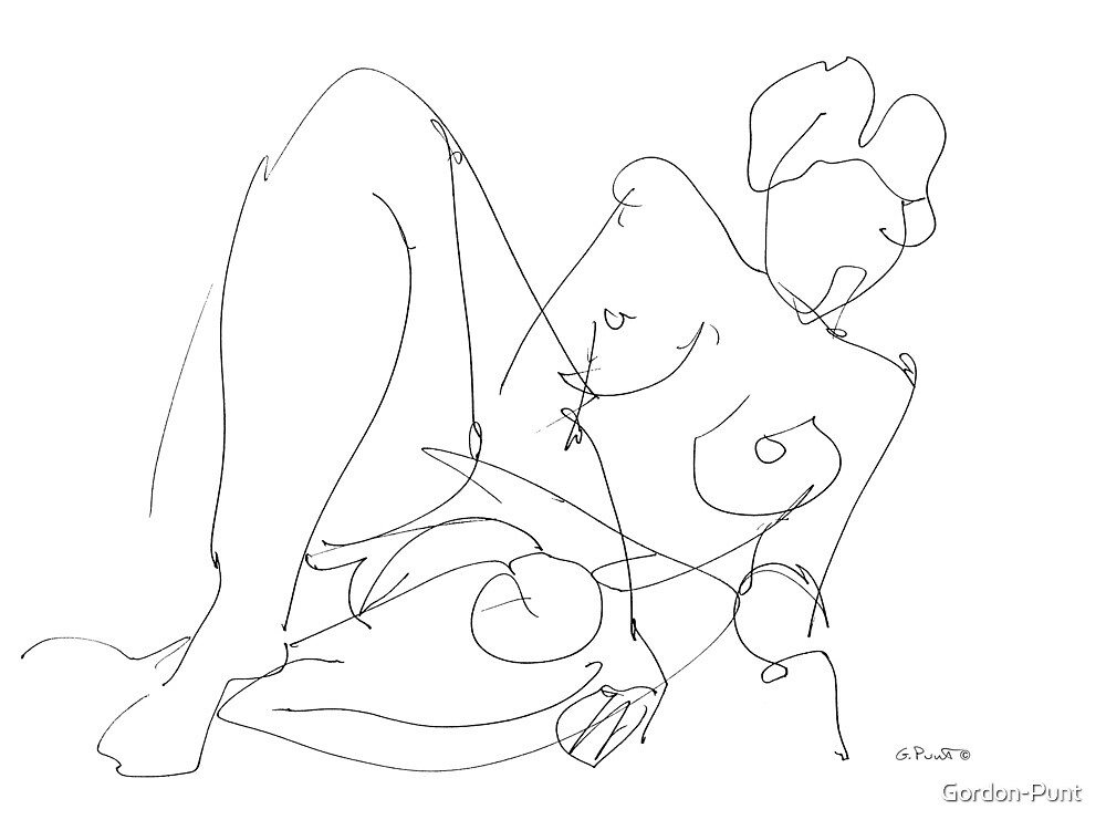 Nude Woman Drawing 5 by Gordon-Punt
