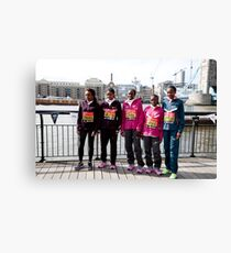 london Marathon  Elite Women Canvas Print
