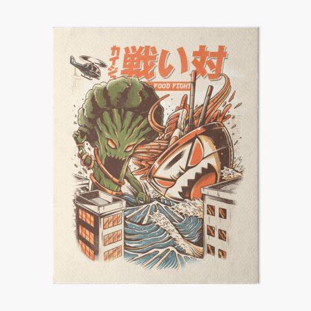 Brocco vs Ramen Kaijus Art Board Print