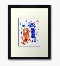 Ink Sketch Framed Print