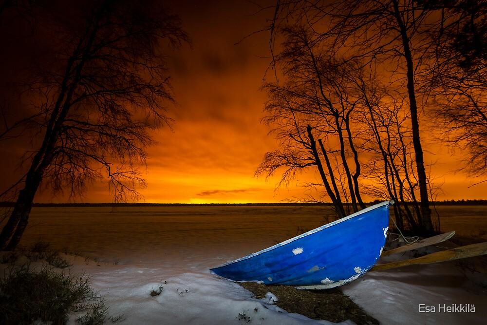 Fire in the sky by Esa Heikkilä
