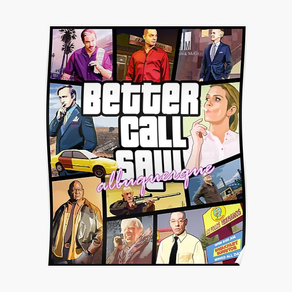 Better Call Saul albuquerque GTA ART Poster