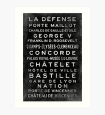 Paris Metro Subway Sign Art Art Print