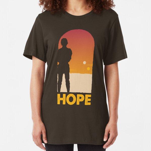 Hope - Tatooine's New Hope! Slim Fit T-Shirt