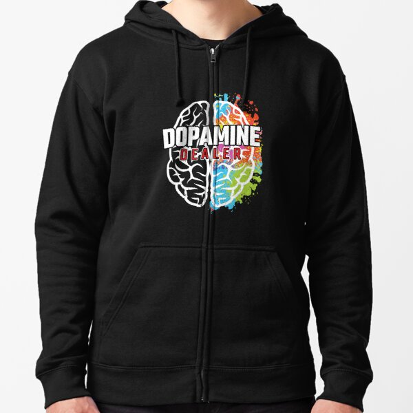 Dopamine Dealer - Fitness Coach - Gift for Personal Trainer Zipped Hoodie