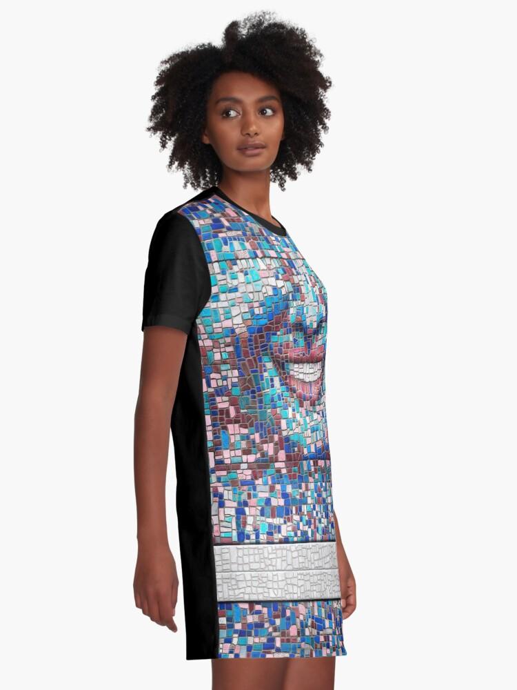 "Alternate view of ""Broken"" (mosaic tile, painted) - ""Smile"" Fine Art series Graphic T-Shirt Dress"