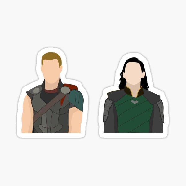 Paquete de dibujo de los hermanos asgardianos Pegatina