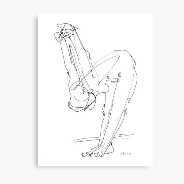 Nude Woman Drawing 9 Metal Print