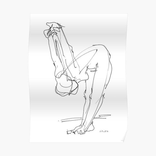 Femme nue dessin 9 Poster