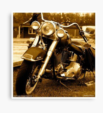 My friend the wind - Harley Davidson. by Andrzej Goszcz. Canvas Print