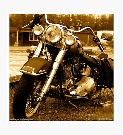 My friend the wind - Harley Davidson. by Andrzej Goszcz. Photographic Print