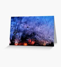Rain, glass, color Greeting Card