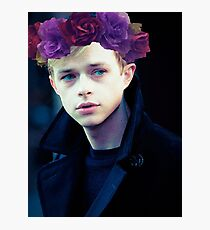 Dane DeHaan and his flower crown Photographic Print