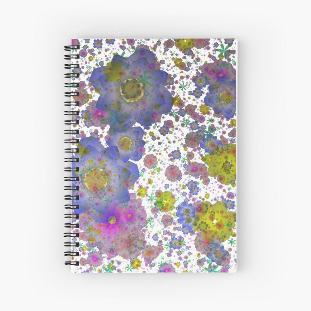 Floral pattern,transparent background Spiral Notebook