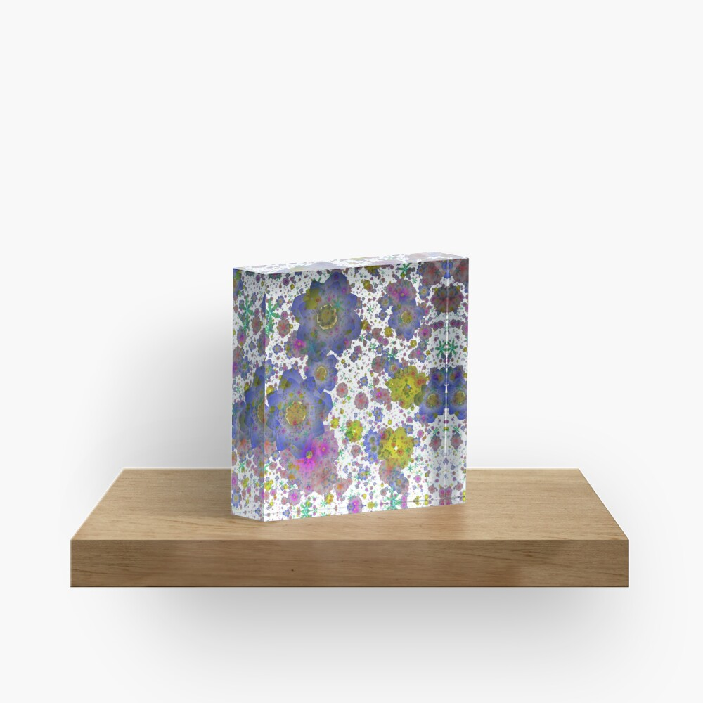 Floral pattern,transparent background Acrylic Block