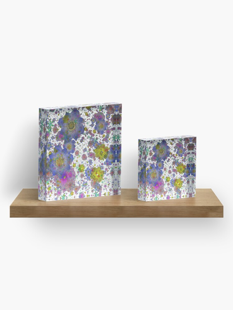 Alternate view of Floral pattern,transparent background Acrylic Block