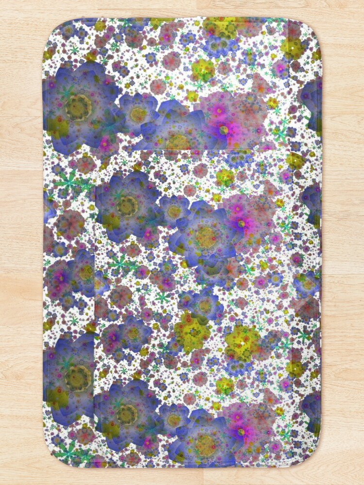 Alternate view of Floral pattern,transparent background Bath Mat